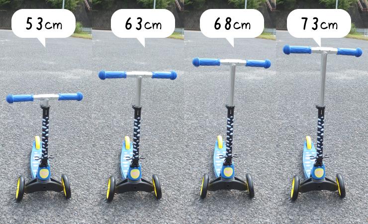 4段階ハンドル高調整機能